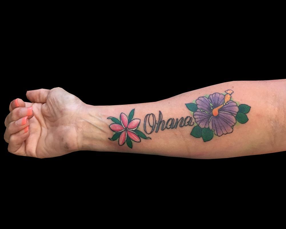 Ohana Flowers By Trevor Kennedy Tattoonow