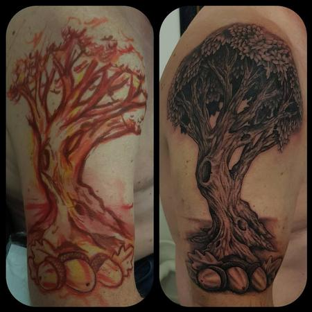 Tattoos - Freehand Oak tree - 133708