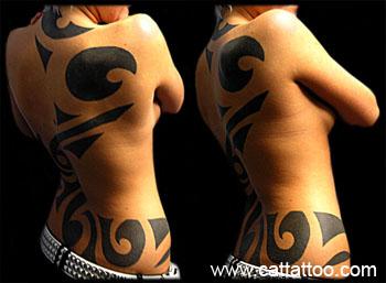 Tattoos - Negative Space Tribal - 18402