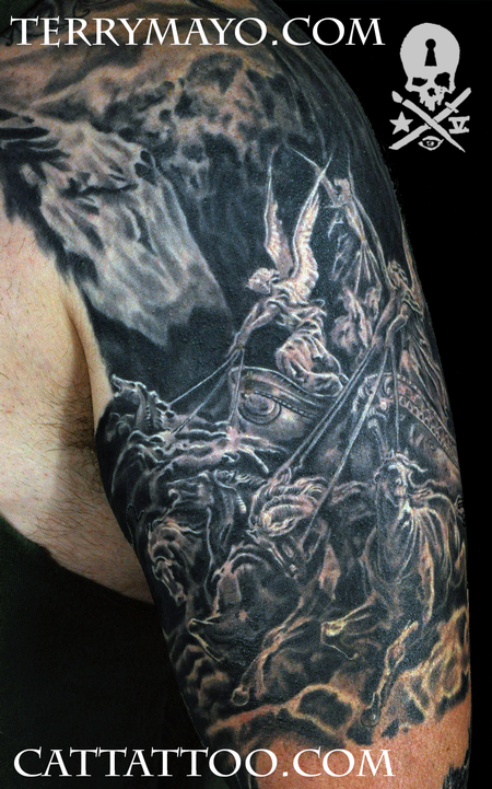 Cat Tattoo Tattoos Religious Gustave Dore Four Horsemen