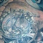 Tattoos - Compass Sundial Sparrows - 115216
