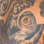 Tattoos - Owl Skull Neo Borneo  - 115195