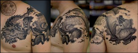 Tattoos - Dragon and Hedgehog - 100726