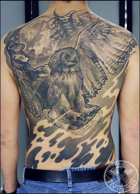 Tattoos - Flying Owl - 100679