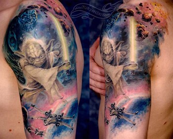 Tattoos - Star wars movie sleeve tattoo - 46763