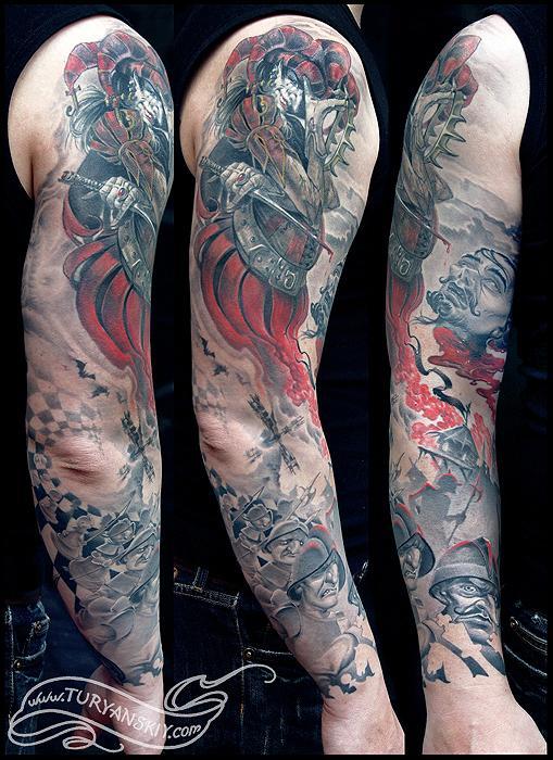 Tattoos - Joker and Chess King sleeve full - 54620