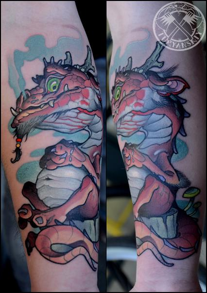 Tattoos - Custom Dragon Tattoo - 92119