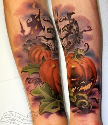 Oleg Turyanskiy - Halloween pumpkin tattoo