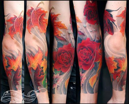 Tattoos - Maple leaves  - 59595