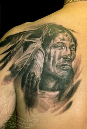 Tattoos - Native american warrior - 46843