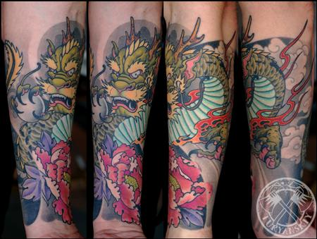 Tattoos - Oriental Dragon  - 80507