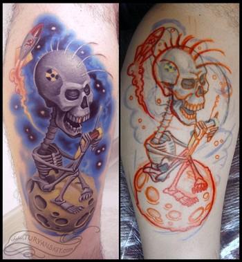 Tattoos - Punk skull lunatic - 49070