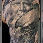 Tattoos - Native American, Eagle and Snake - 100728