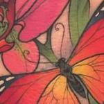 Tattoos - Butterfly and Flowers Tattoo - 115867