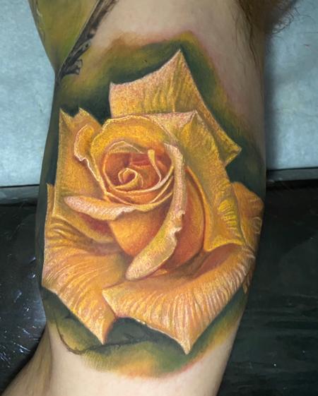 Yellow Rose Tattoo Design Thumbnail