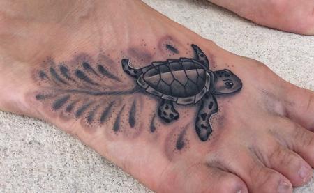 Tattoos - Sea Turtle Tattoo - 123257