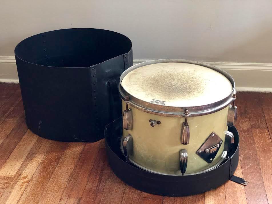 Gene Krupa's drums, Gene Krupa's bass drum, Benny Goodman, Gene Krupa's last bass drum, famous drummers, vintage drums, music memorabilia, collectable instruments