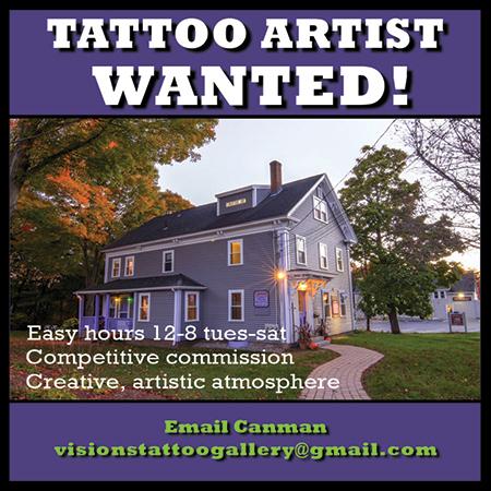 Tattoo Artist Wanted MA