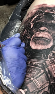 award winning black and grey tattooing