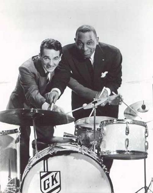 Gene Krupa's cowbell, Gene Krupas drums, vintage percussion