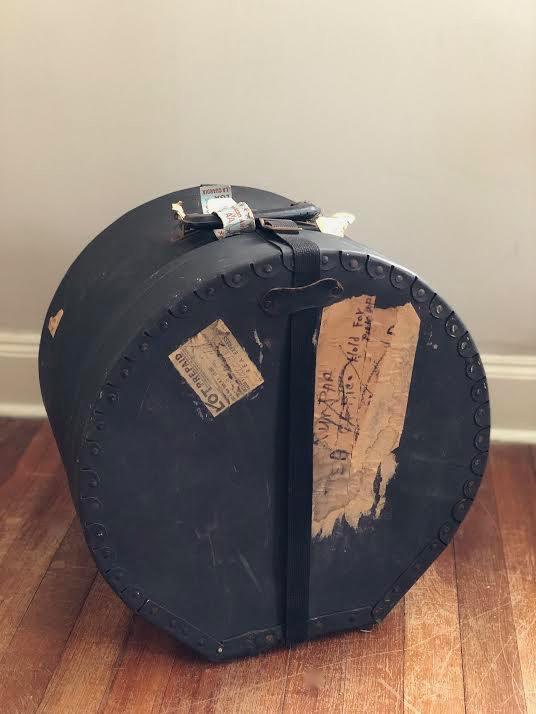 Gene Krupa's drums, Gene Krupa's rack tom, Benny Goodman, Gene Krupa's Slingerland rack tom, famous drummers, vintage drums, music memorabilia, collectable instruments