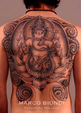 Tattoos - Ganesh Back piece - 98927