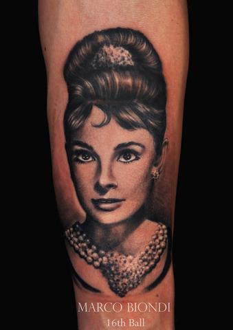 Tattoos - Audrey Hepburn Portrait - 98925