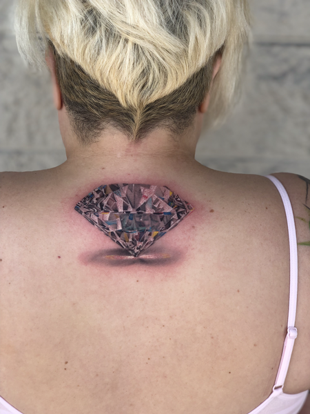 Tattoos - 3D Diamond Tattoo - 141245