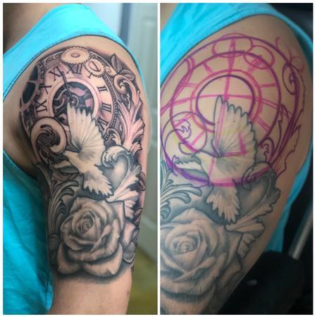 Tattoos - Freehand Clock Tattoo - 139721