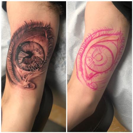 Tattoos - Freehand Eye Tattoo - 139724