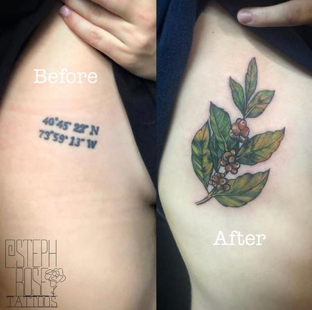 Tattoos - Ribcage cover-up tattoo - 139699
