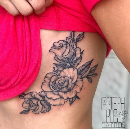 Tattoos - Ribs and Roses - 139709
