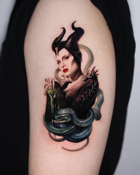 Hyeonhwa Kim Dokhwa - Maleficent Tattoo