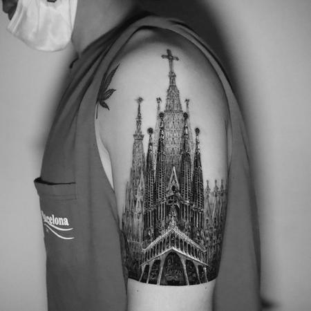 Tattoos - Sagrida Familia Church Tattoo - 143123