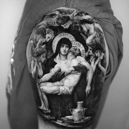 Eunbee - Jesus and Mary Tattoo
