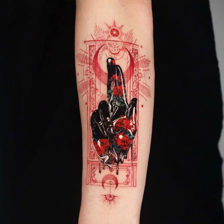 Tattoos - Tarot Card Tattoo - 143117