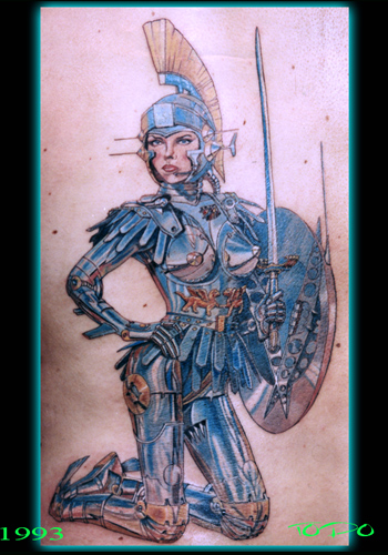 Tattoos - Chrome Sorayama robot tattoo - 20727