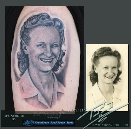 Tattoos - 1940's portrait - 77573