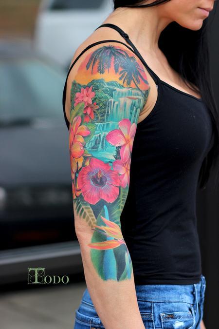 Tattoos - Hawaiian scene - 110022