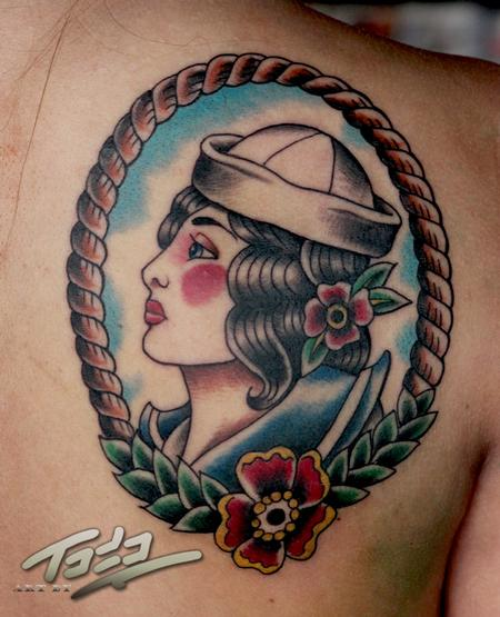 Tattoos - Traditional sailor girl - 74194