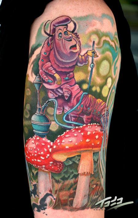 Tattoos - Smoking Caterpillar - 69983