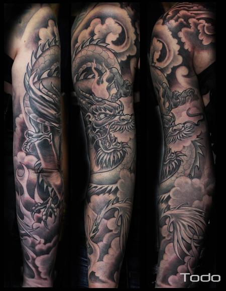 Tattoos - Dragon Sleeve - 82449