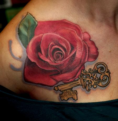 Tattoos - Erika's Rose - 61689