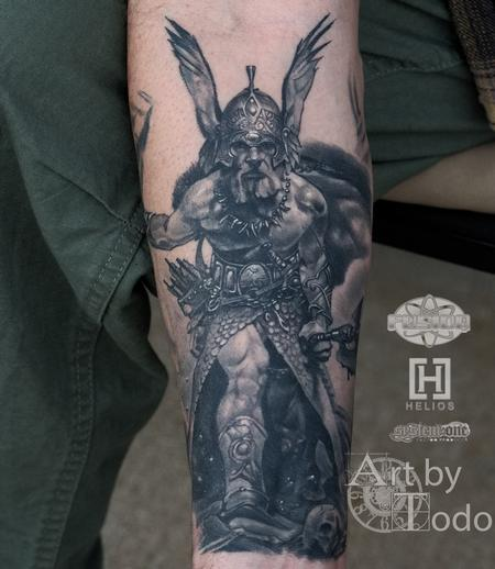 Tattoos - Fine line Frazetta - 131734