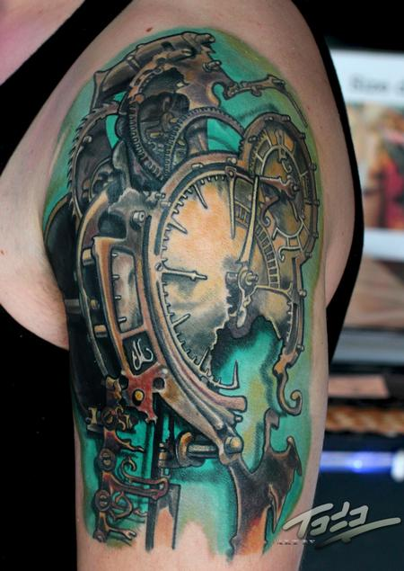 Tattoos - Frietas steampunk clock - 74193