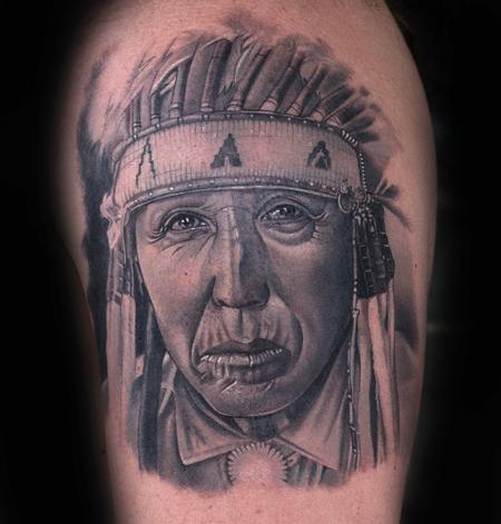 Tattoos - Indian Portrait - 93796