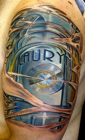 Tattoos - chrome arm - 45361