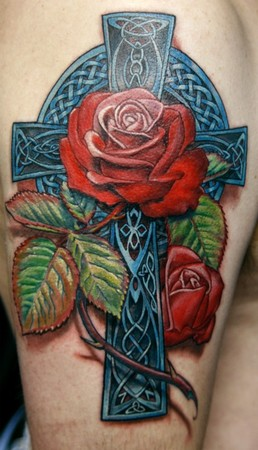Tattoos - Celtic Rose - 38457