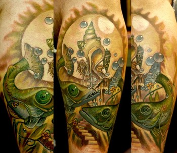 Tattoos - Fish world - 41733