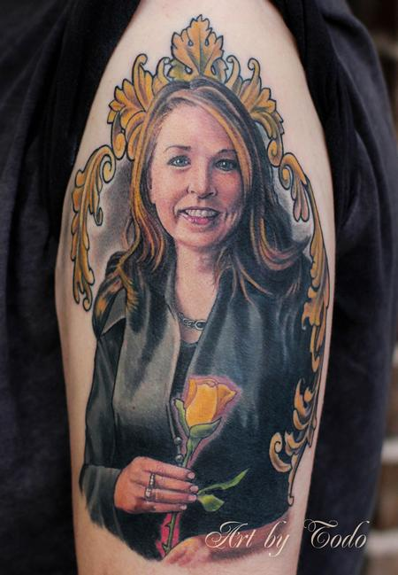 Tattoos - Portrait in Filigree  - 84286